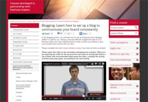 MOOC screenshot - Search and Social Media Marketing for International Business